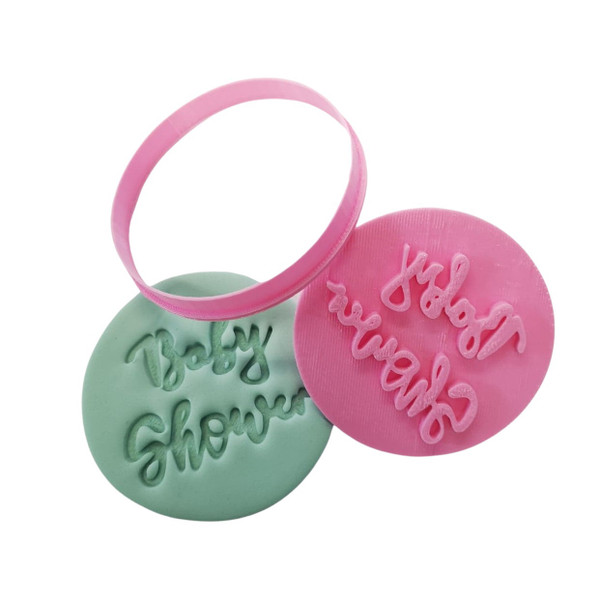 Baby Shower Cookie Cutter and Embosser