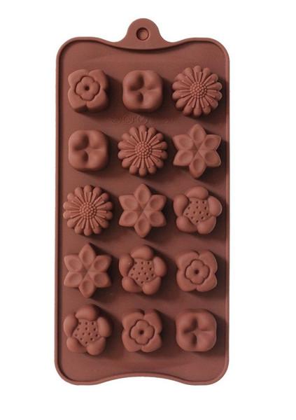 Assorted Flowers 15 Cavity Chocolate Mold