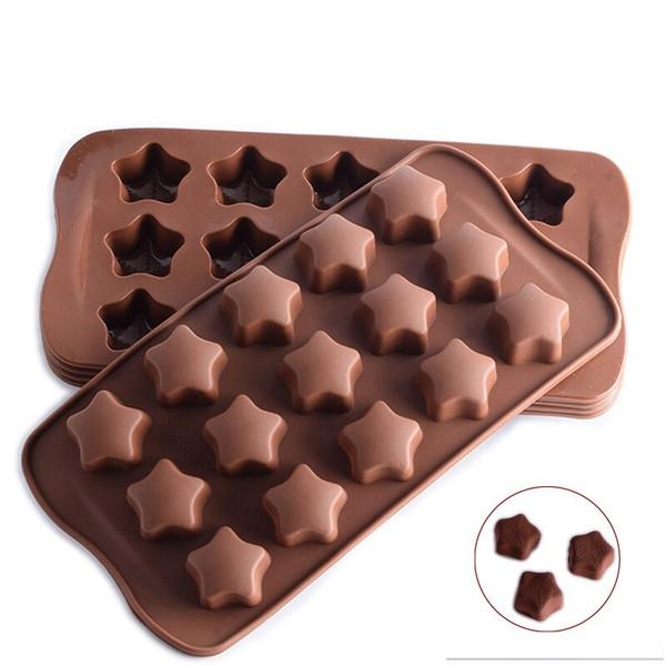 Stars 15 Cavity Chocolate Mold