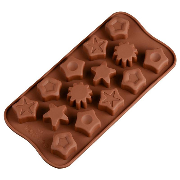 Assorted Stars 15 Cavity Chocolate Mold