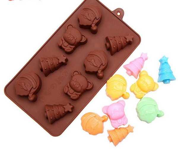 Christmas 8 Cavity Chocolate Mold