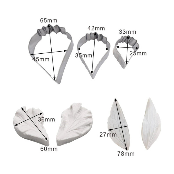 Hibiscus Petal and Leaf Cutter& Veiner 7pc Set