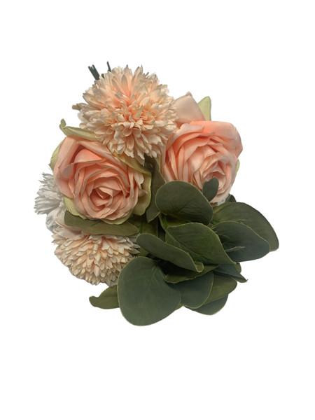 Chrysanthemum and Rose Bouquet-Orange