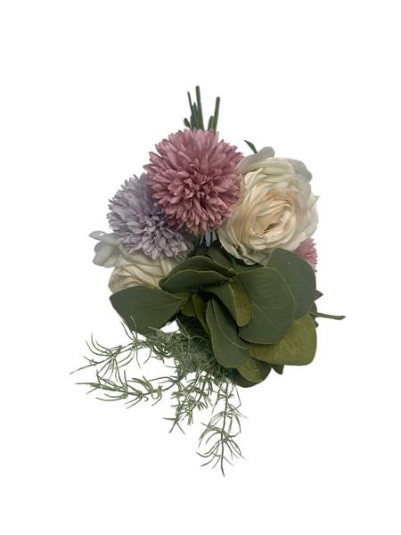 Chrysanthemum and Rose Bouquet-Pastel