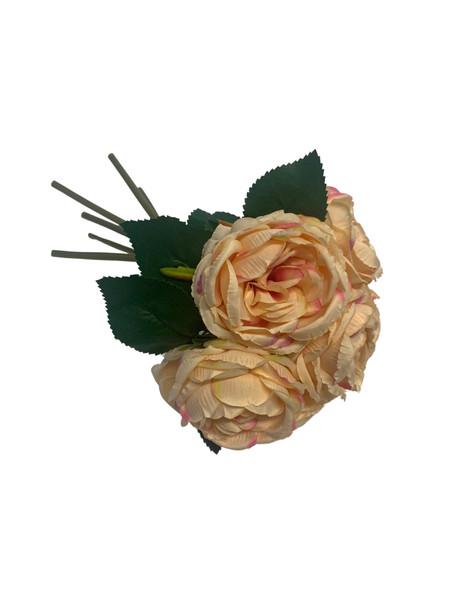 Cabbage Rose Bouquet-Apricot
