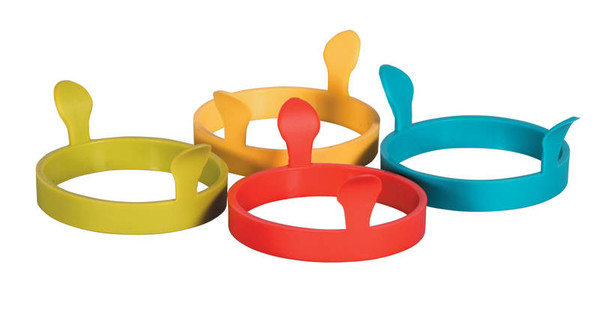 Silicone Egg Rings With Handles Assorted Colour
