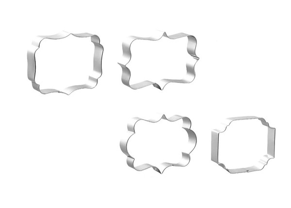 Assorted Plaque 4pc Stainless Steel Cutter