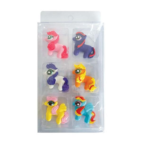 Sugar Decorations- Little Ponies (6 piece)