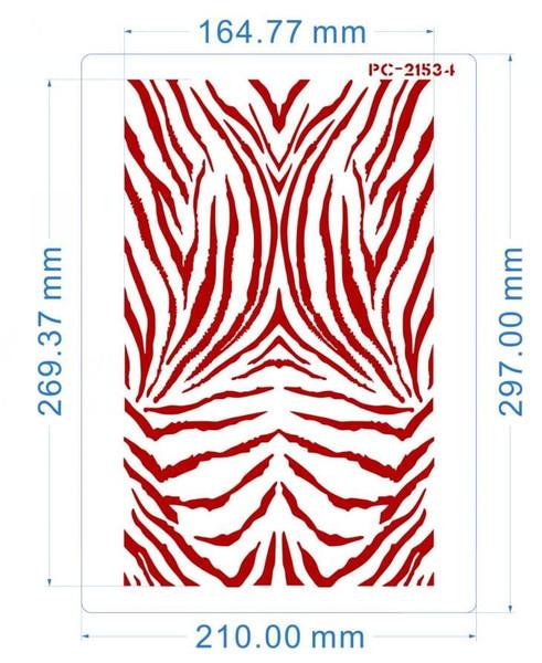 Tiger Skin Texture Stencil