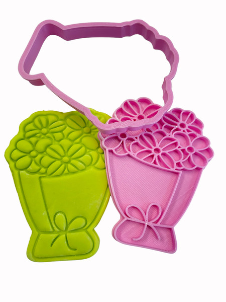 Bouquet Cookie Cutter and Embosser