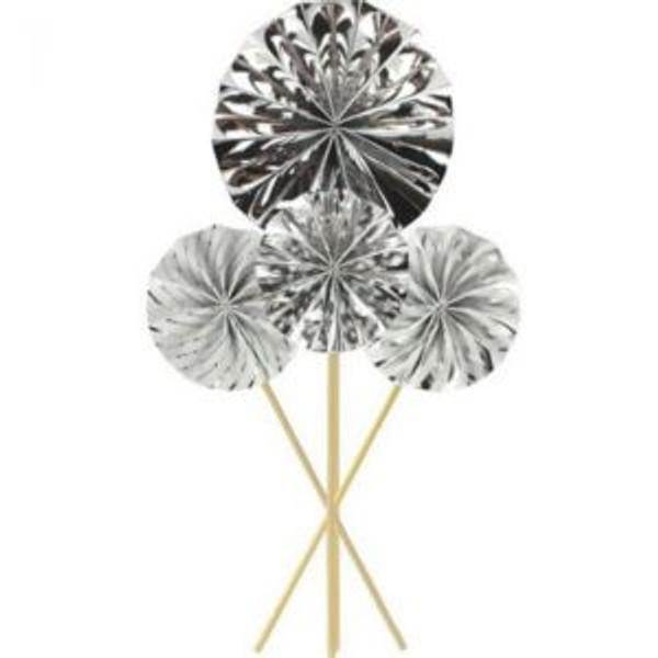 Shmick Mini Fan Wheel Decorations - Silver