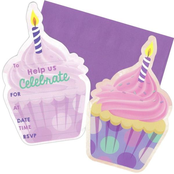 Cupcake Invitation 8pk