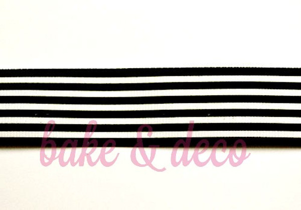 Black Stripe Ribbon 25mm