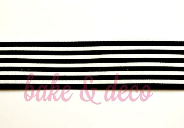 Black Stripe Ribbon 25mm