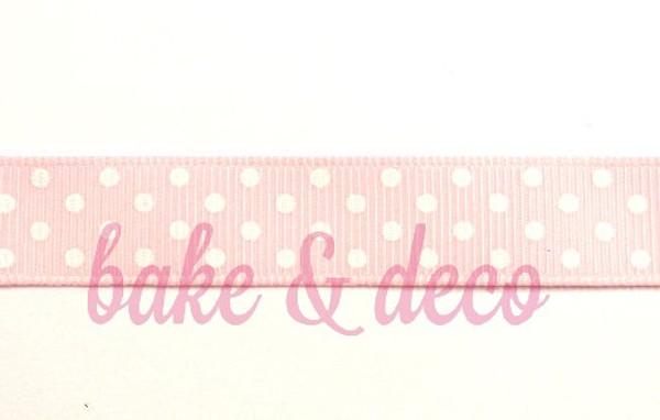 Baby Pink Polkadot Ribbon 15mm