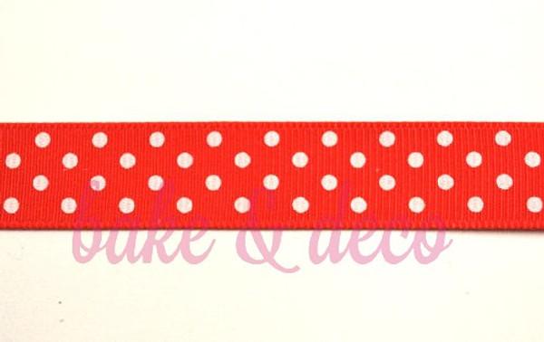 Red Polkadot Ribbon 15mm