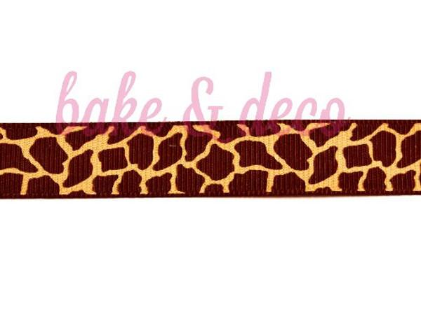 Giraffe Print Ribbon 20mm