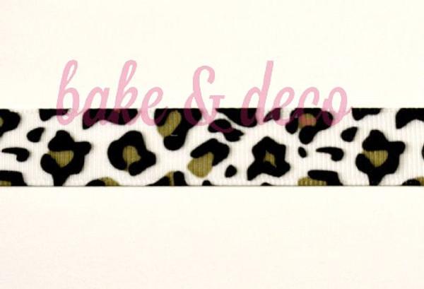 Leopard Print Ribbon 20mm
