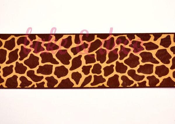 Giraffe Print Ribbon 40mm