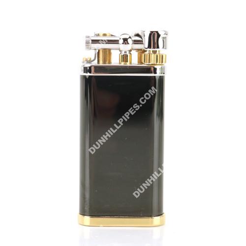 Dunhill Unique Black Lacquer Palladium & Gold Plate Pipe Lighter