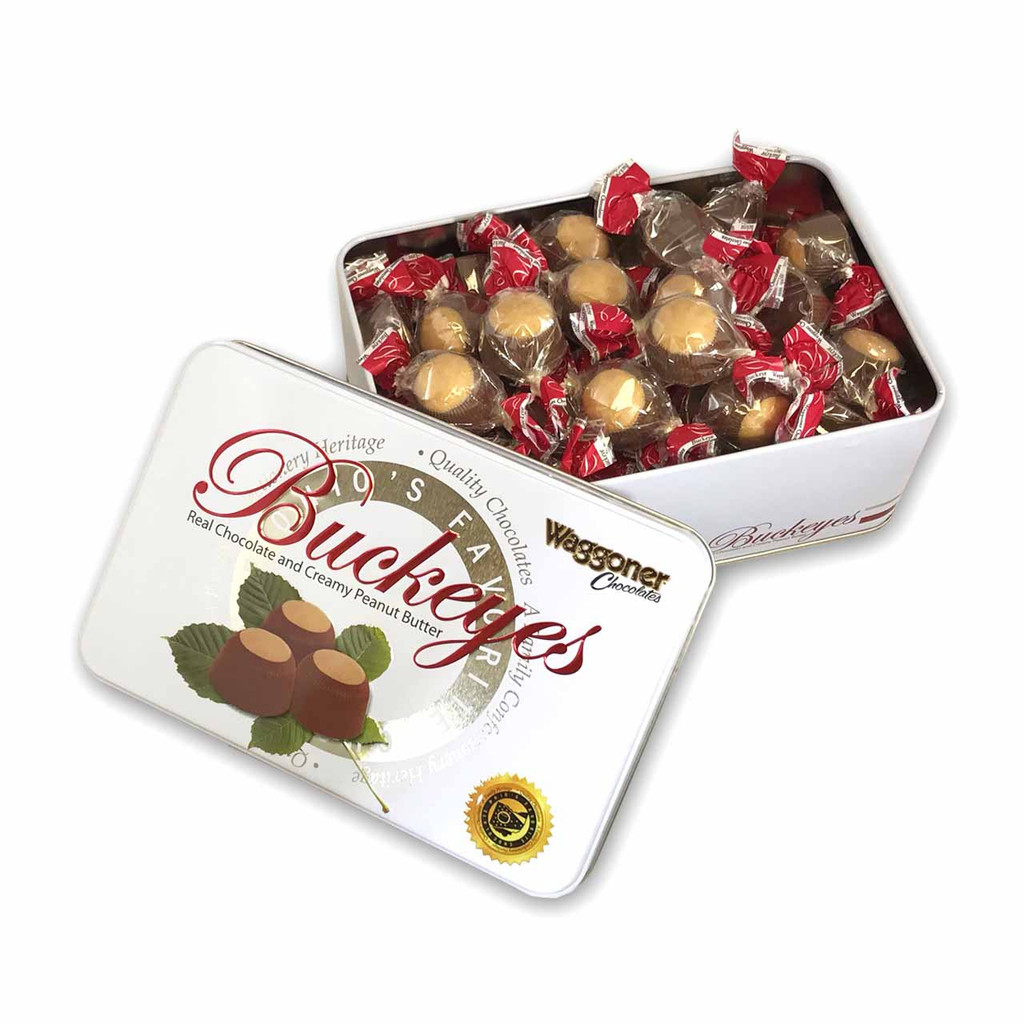BUCKEYE COLLECTOR TIN MILK CHOCOLATE 1 LB.
