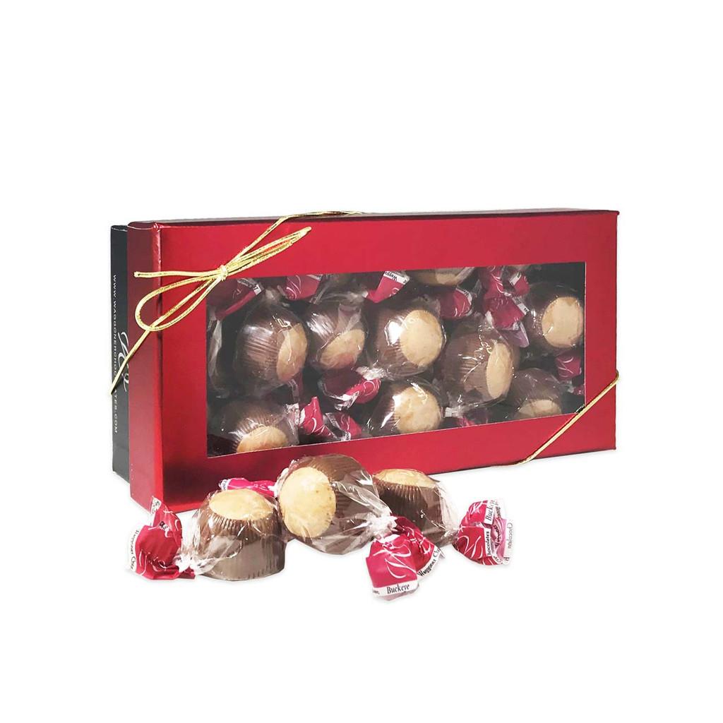 BUCKEYE WINDOWED GIFT BOX MILK CHOCOLATE 8 OZ.