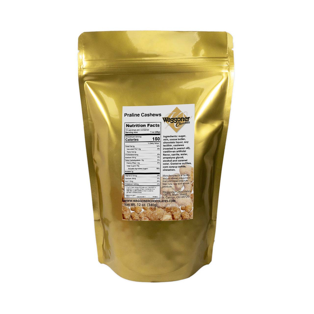 FROSTED CASHEWS - 12 OZ. BAG