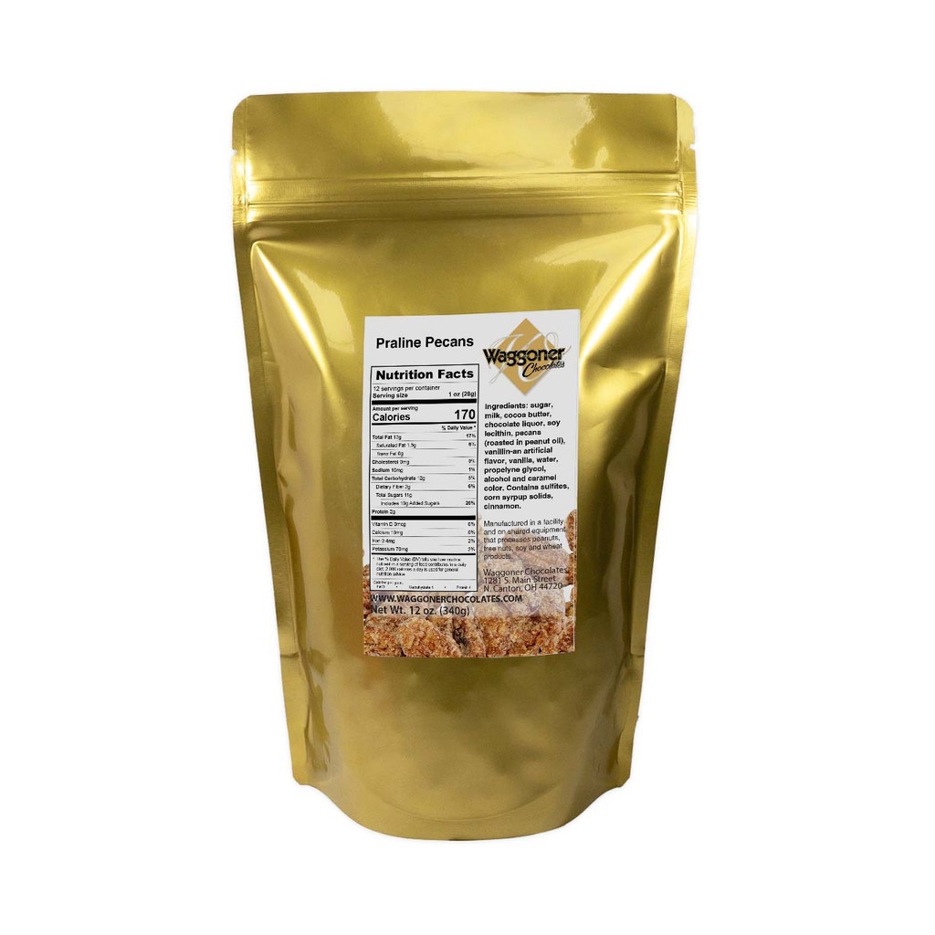 FROSTED PECANS - 12 OZ. BAG
