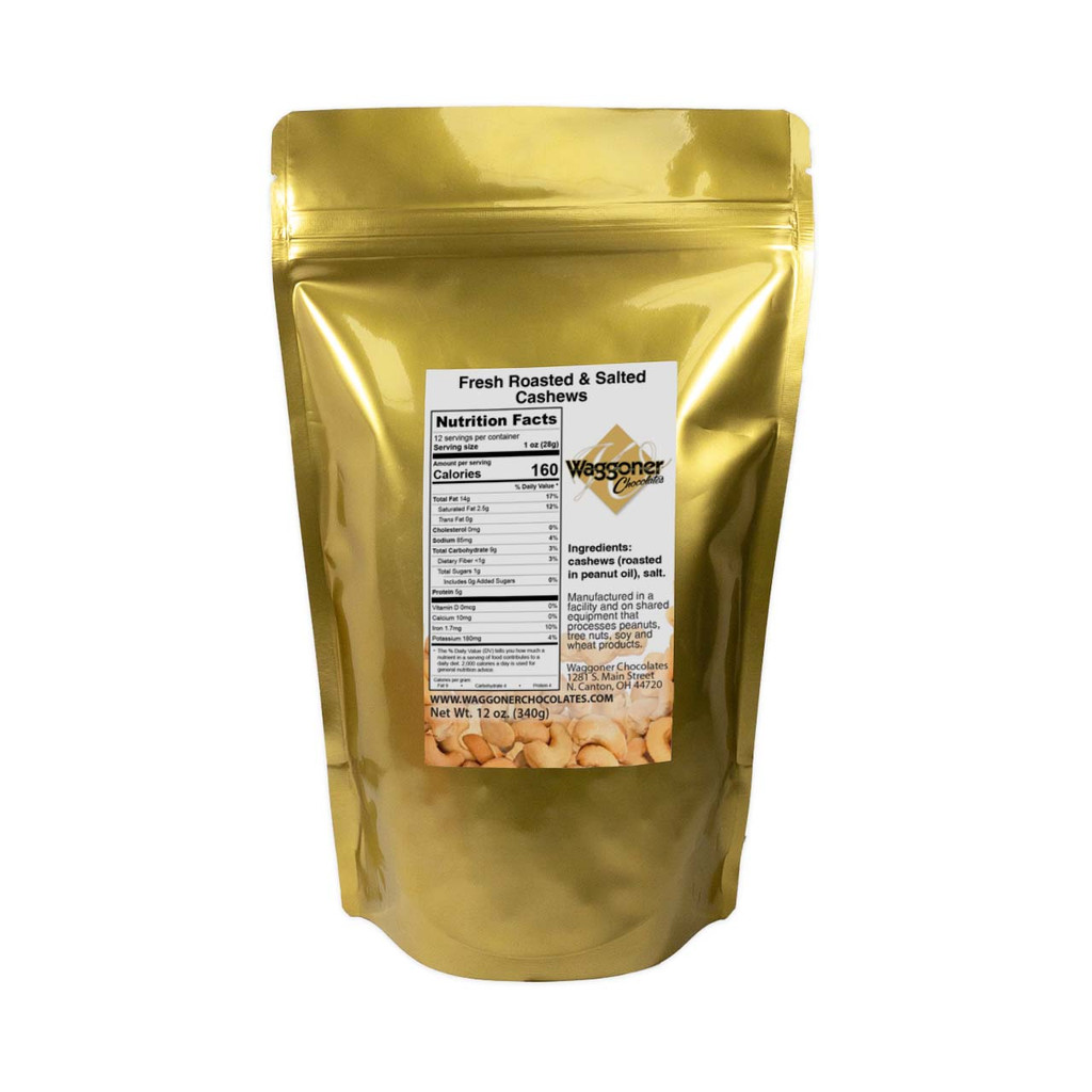 WHOLE CASHEWS - 12 OZ. BAG