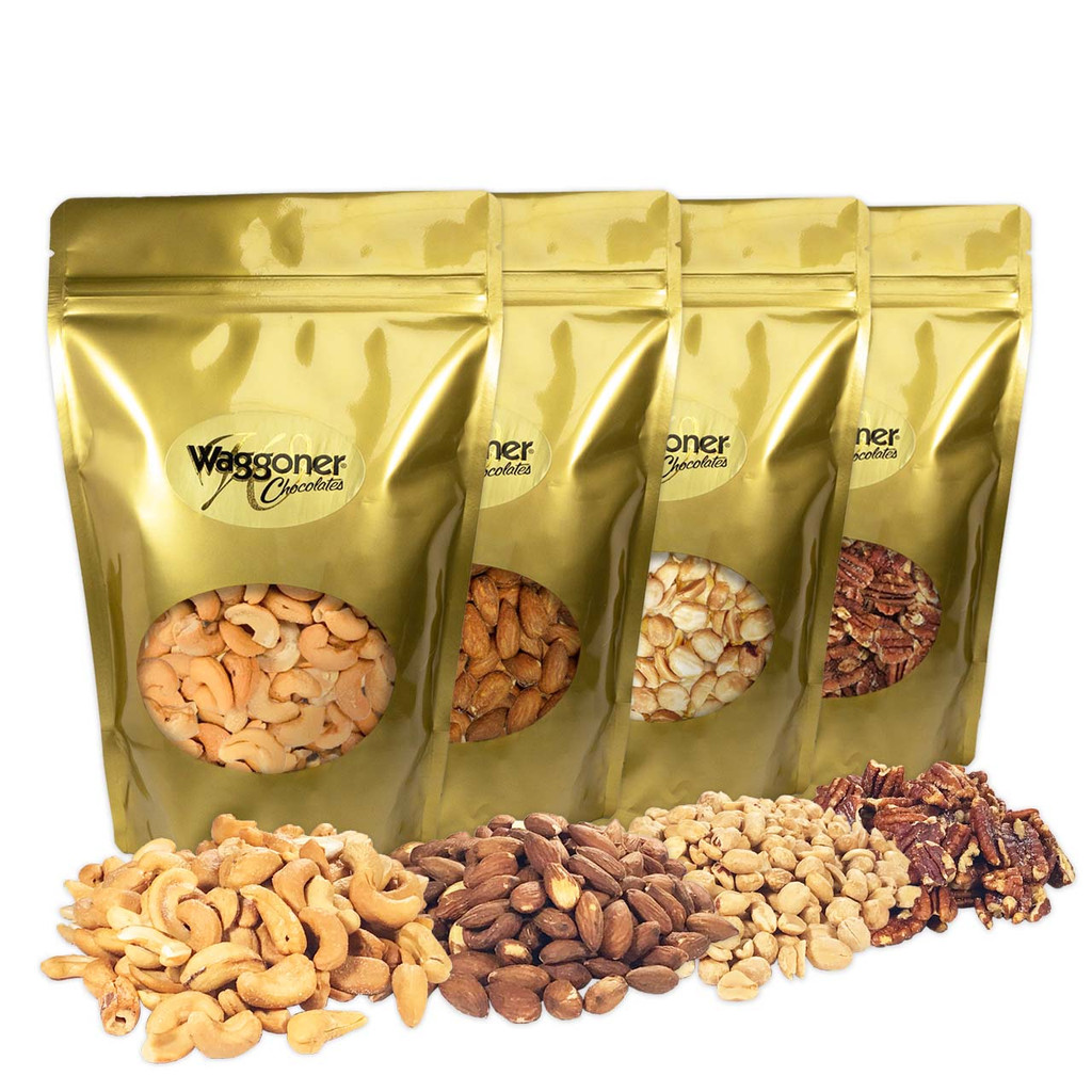NUT ASSORTMENT - SET OF 4 - 12 OZ. GIFT BAGS