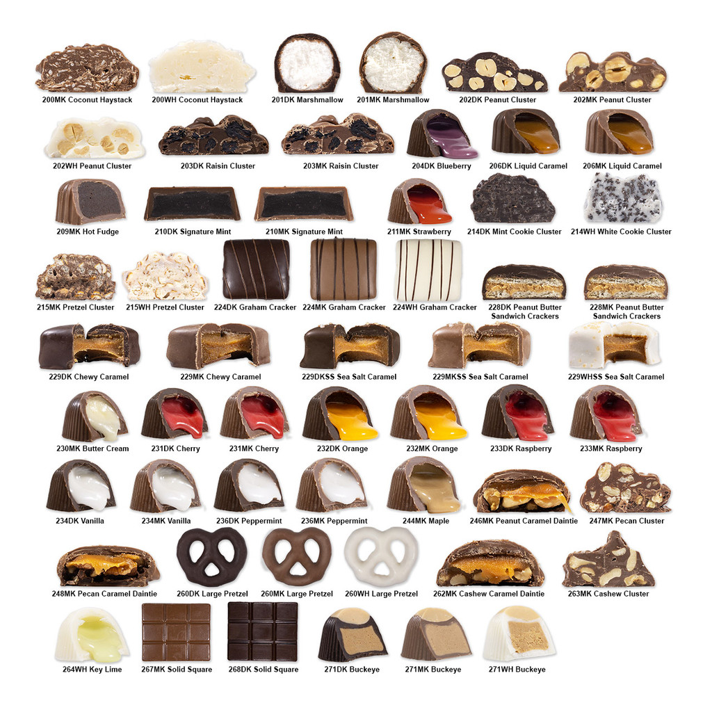 4 LB. WRAPPED CHOCOLATE - Pick Your Favorite Flavor