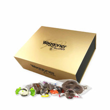 ASSORTED WRAPPED GOLD MAGNETIC GIFT BOX