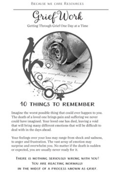 Grief Work: Getting Through Grief One Day at a Time:  10 Things to Remember