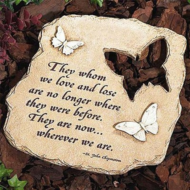Wherever We Are - Butterfly Garden Stone