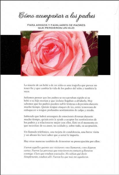 Cómo acompañar a los padres:  para amigos y familiares de padres que perdieron un hijo (Being With Parents - Spanish)