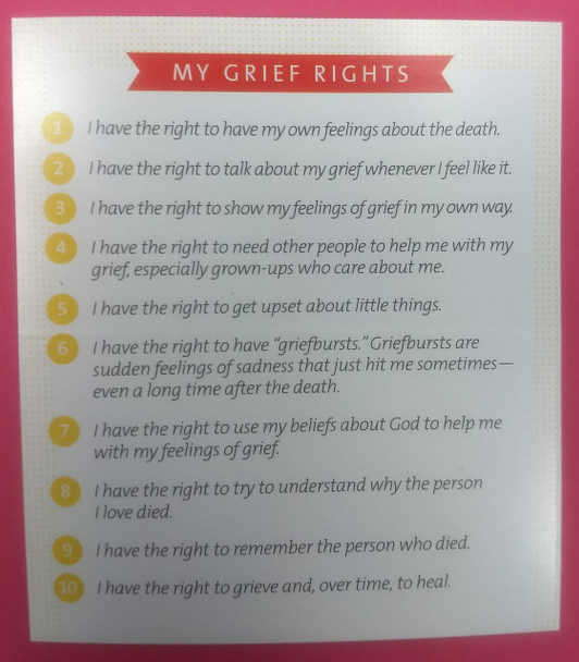 My Grief Rights Wallet Cards