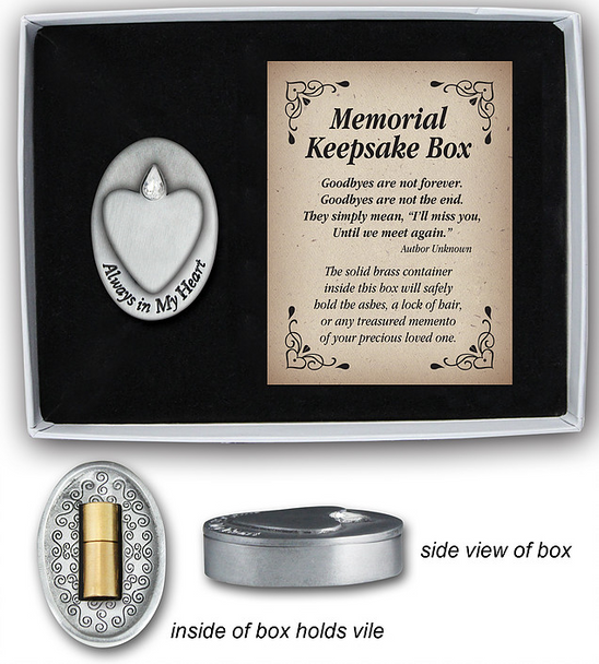 Always in My Heart Memorial Keepsake Box