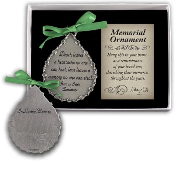 Death Leaves a Heartache Memorial Ornament