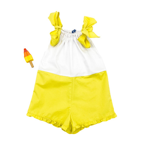 Bicolor Short Overall