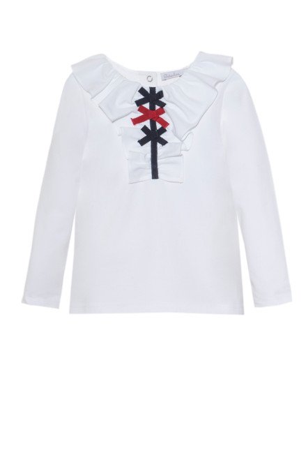 Girl White Jersey Top