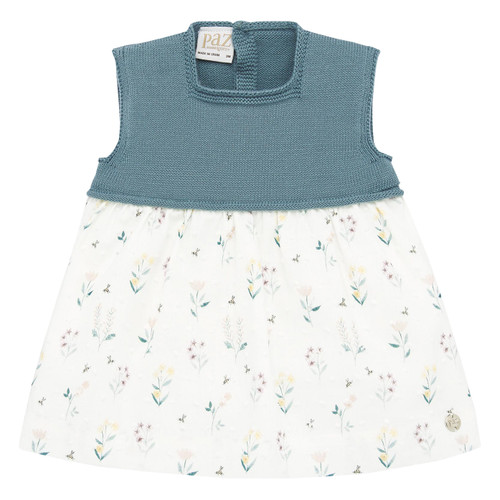Green Floral Cotton Baby Dress