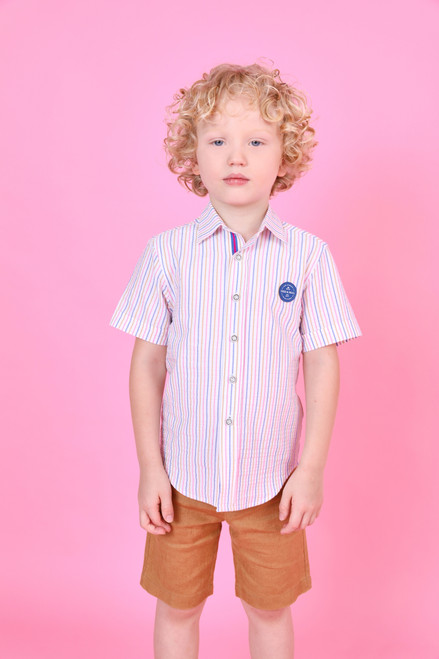 Pink and Blue Stripe Shirt
