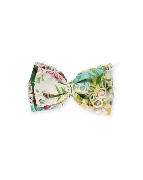 Ivory Floral Lace Bow