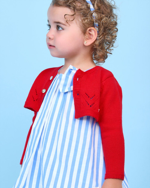 Baby Girls Red Knitted Cardigan
