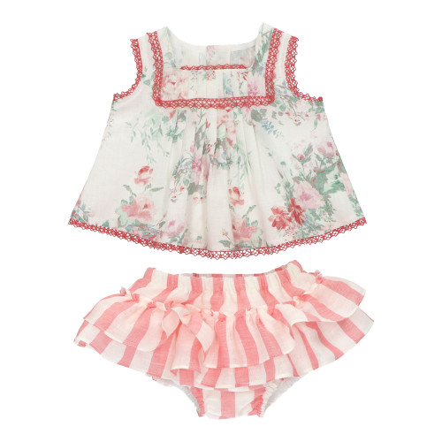 Baby Girl Floral Bloomers Set