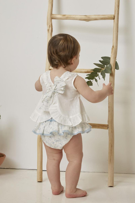 Power Blue  Bloomers Set