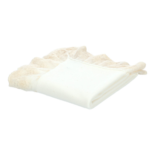 Ivory Knitted Blanket