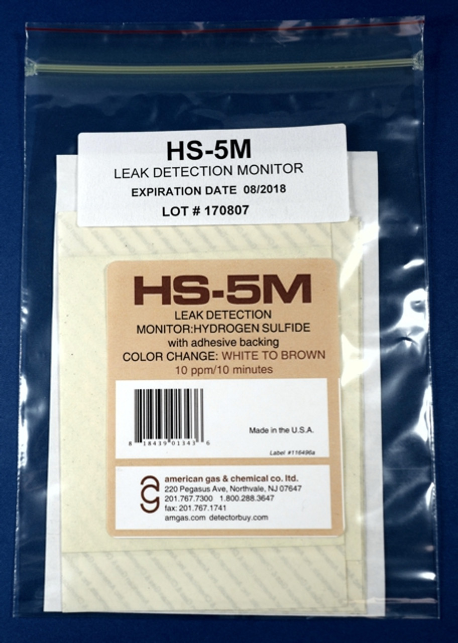 HS-5M Hydrogen Sulfide Color Change Area Contamination Monitor