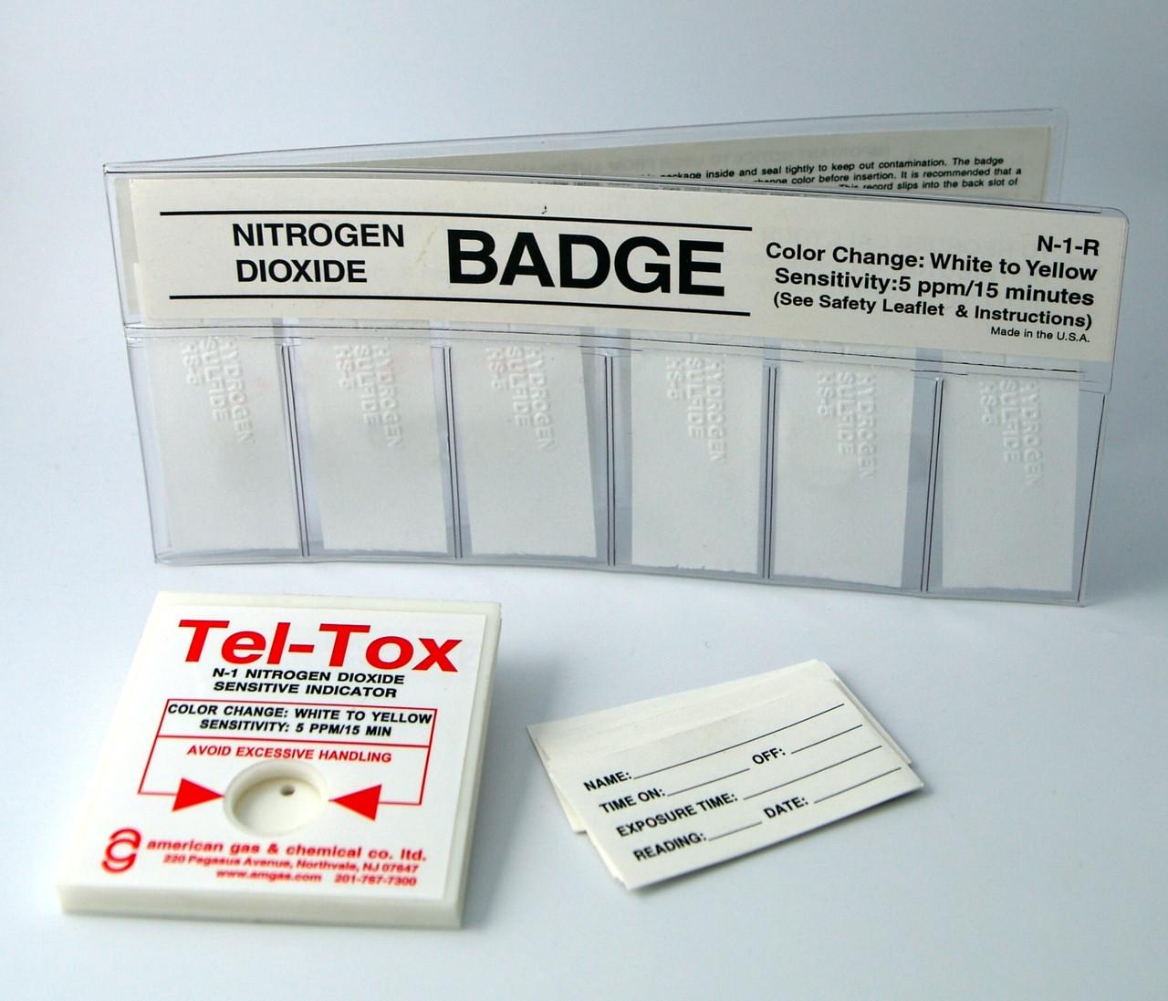 N-1K Nitrogen Dioxide Color Change Badge Kit