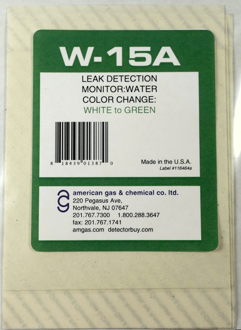 W-15A Water Detection Paper (pkg of 12)
